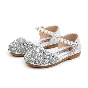 Spring Summer High Quality Kids Shoes For Girls Soft Leather Loafers With Bow-knot Children Ballet Flats Sandals With Rhinestone