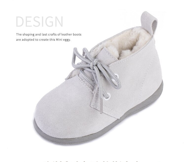 2019 newborn children's rain boots Australian leather boy girl snow boots children's shoes
