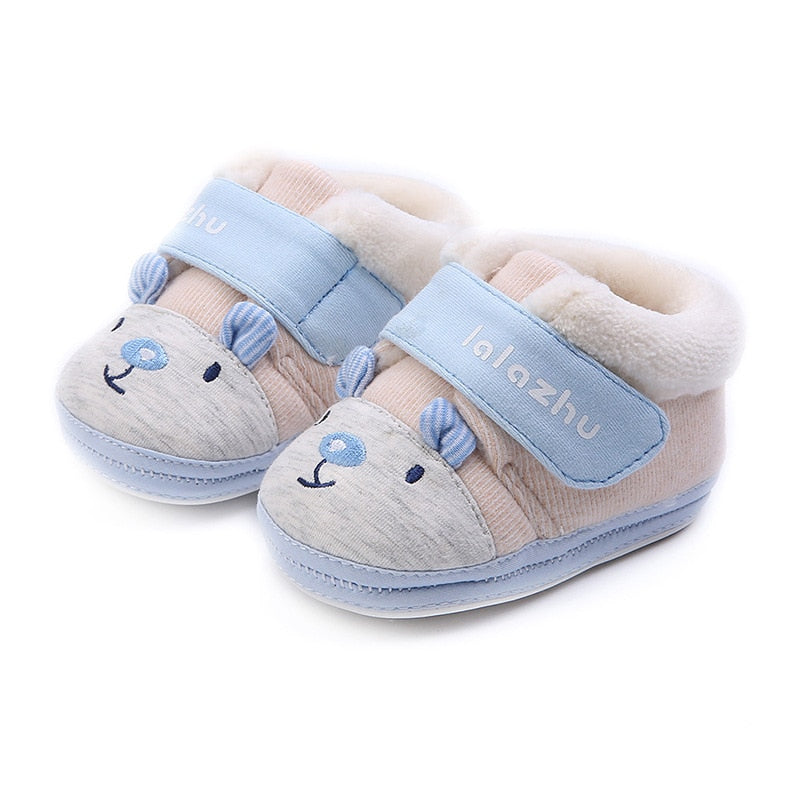 2019 Newborn Shoes Winter Cute Animal Winter Shoes Baby Soft Soled Baby Girls Shoes Winter Warm Thicken Cotton Shoe 0-3-6 Months