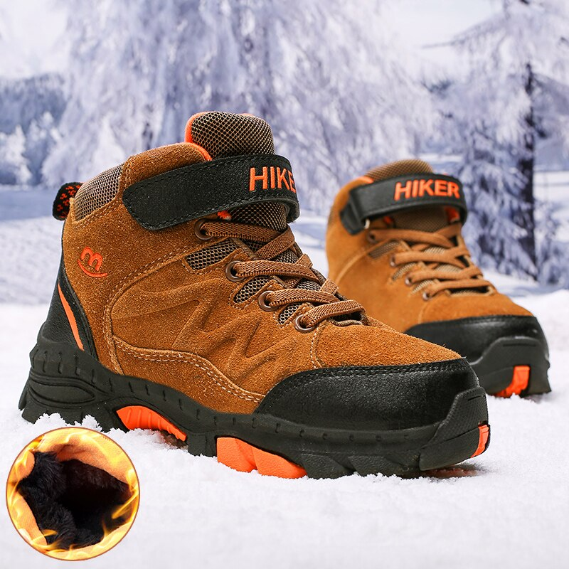 Winter Boots for Boys Kids Snow Shoes Teenagers Children Hiking Shoes Walking Climbing Sneakers CN size 31- 40