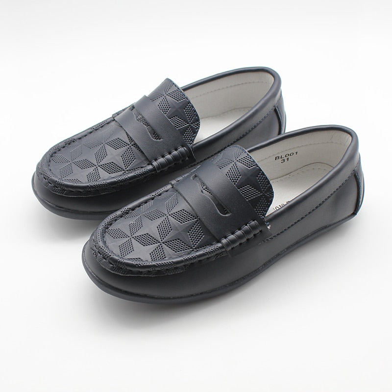 Kids Boys Formal Loafers Slip On Moccasins Wedding Back To School Shoes