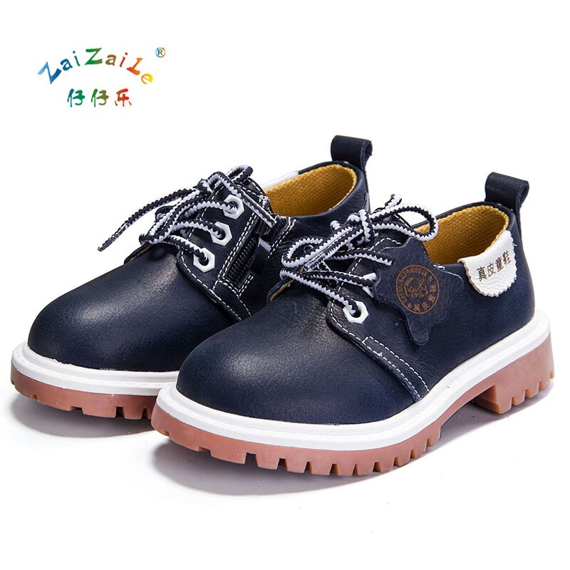Children Fashion Retro Boots Genuine Leather Casual Sports Shoes For Boys Winter Kids Leather Shoes Mid-Calf Snow Boots KS75