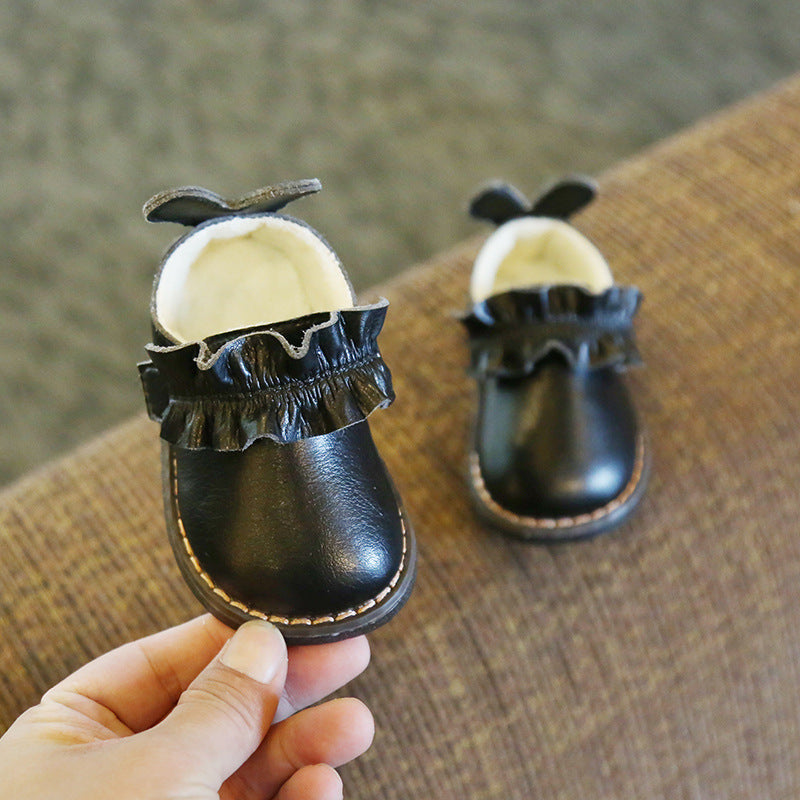 2019 Genuine Leather Baby Girls Boots  Infant Girl Shoes Winter Warm Toddler First Walkers