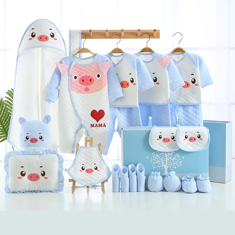 New 22Pieces Newborn Baby Girls Clothing 0-6months Infants Baby Clothes Boys Clothing Gift Set Cotton Underwear Warm Suit