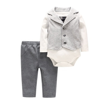 2019 New Baby Clothing Sets Newborn Infant Boy Clothes Three-Piece Suit Outfits Spring Cotton Long-Sleeve Infant Outfits Sets