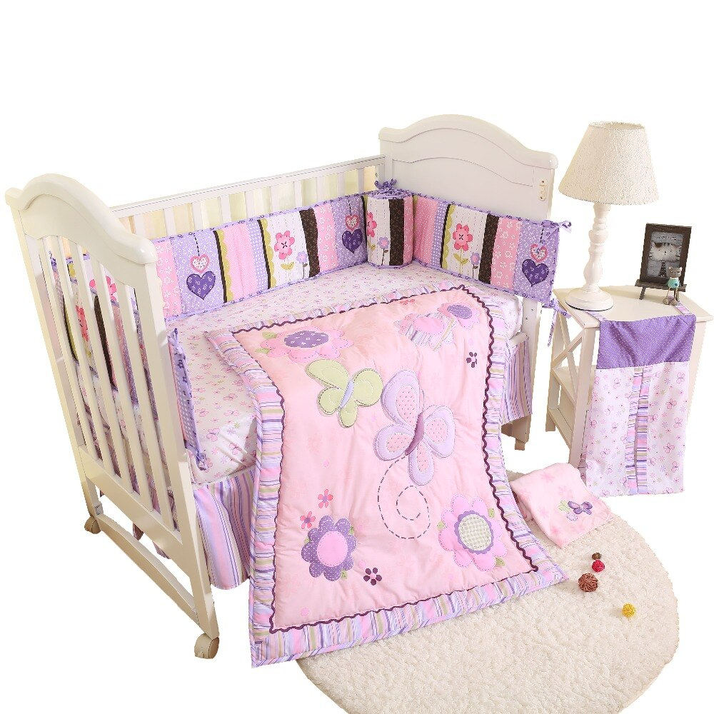4Pcs baby crib bedding set kids bedding set 28''x52'' newborn baby bed set crib bumper baby cot set baby bed bumper