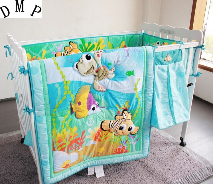 7pcs Newborn Bedding Sets,Bumper for Baby Bed,Winter Baby Bedding Set,include (bumpers+duvet+bed cover+bed skirt)