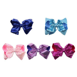 5pcs/set bowknot kids baby children hair clip bow pin barrette hairpin accessories for girls ribbon hair bow ornaments hairclip