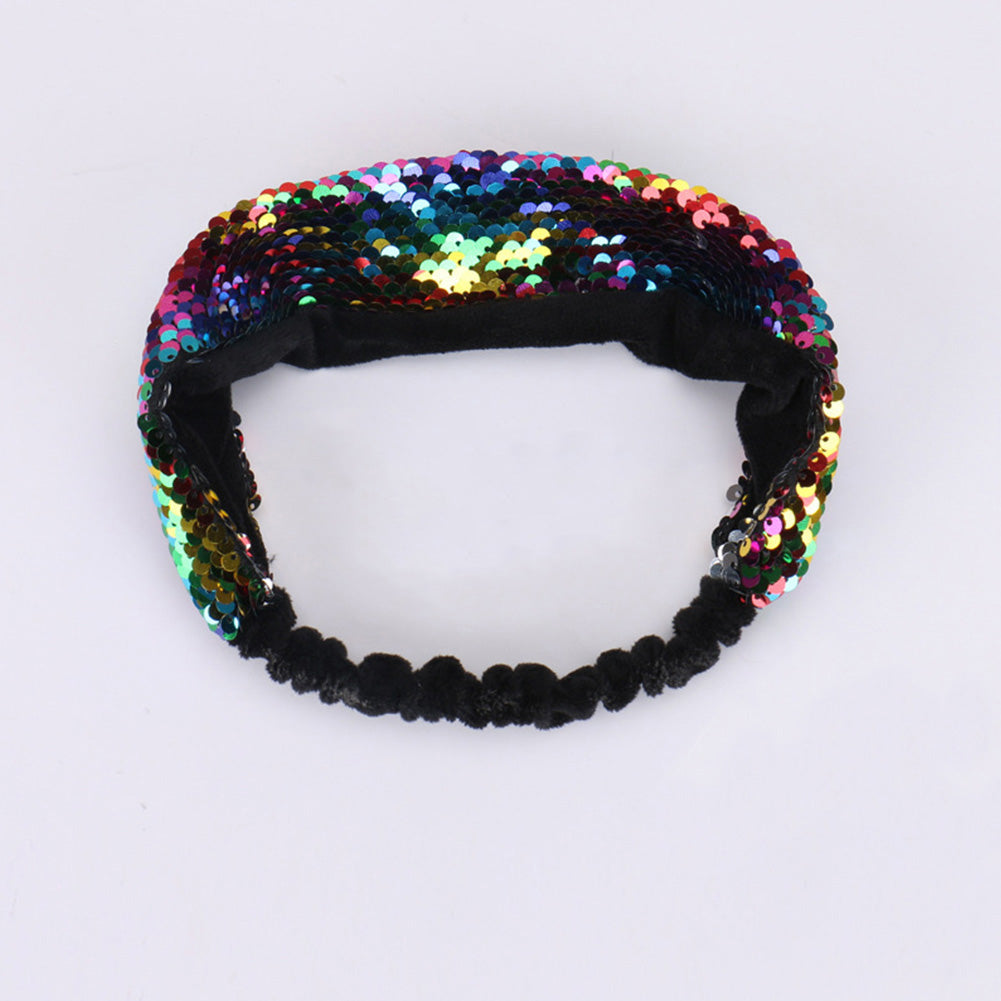 Gift Turned Flip Double Sided Change Color Fish Scale Shiny Sequins Accessories Party Birthday Kids Headband Girls Hair