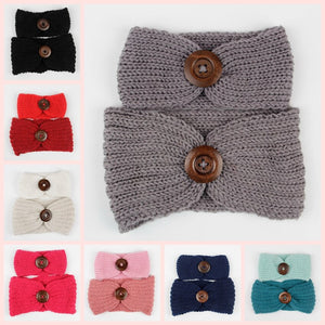 Fashion Hot Sale Mom and Baby Knit Headband Set Women Crochet Ear Warm Headwraps Turban Kids Headband Hair Accessories
