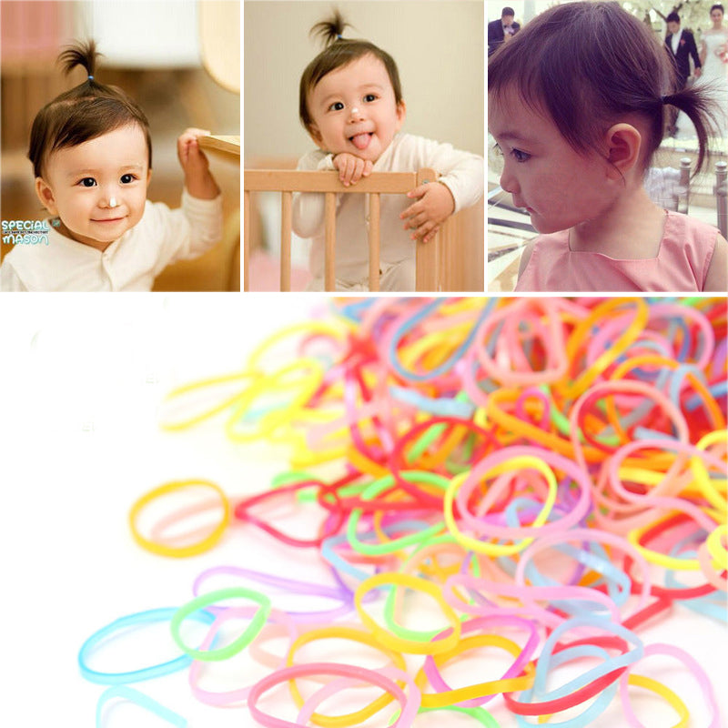 3000/1500pcs/bag Kid Disposable Gum TPU Thicken Rubber Bands Ponytail Holder Elastic Hair Band Girl Scrunchie Hair Accessories