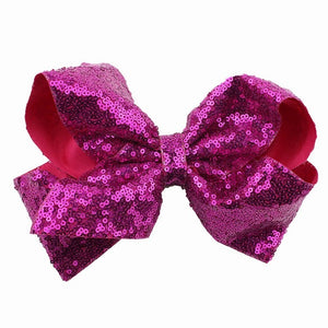 1pc 8 inch Girls Big Bowtie Hair Clips Large Sequin Alligator Clips Kids Hair Headwear Bow Hair Accessories XLZ9103