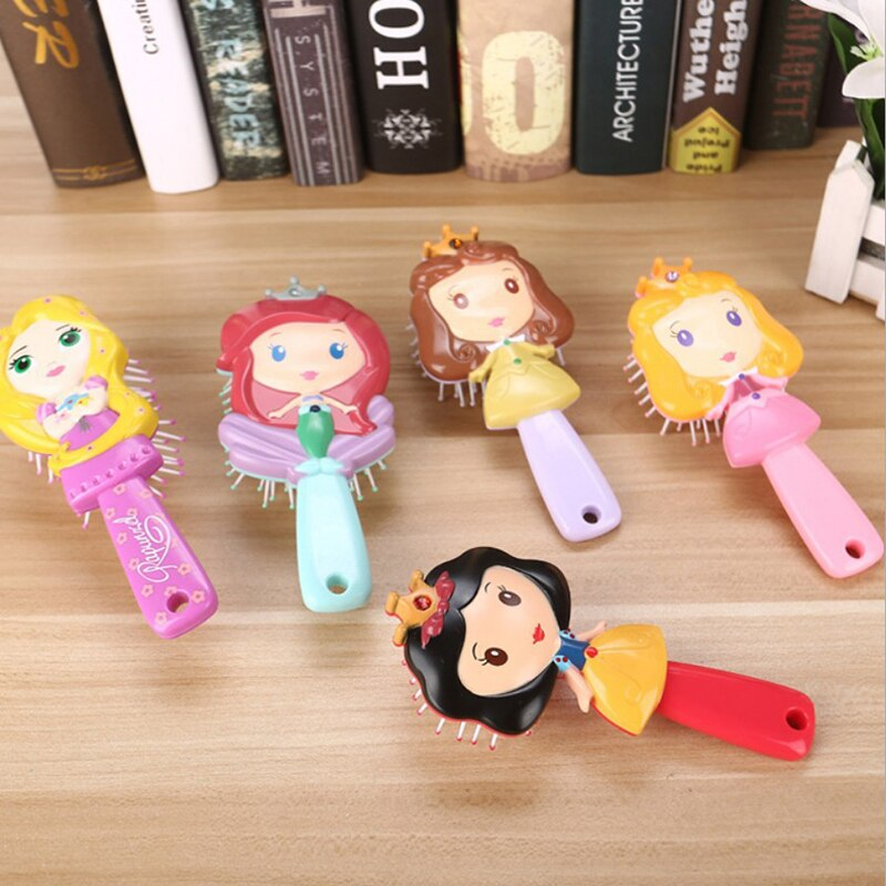 Disney 1pcs Cartoon Magic Detangling Handle Anti-Static Hair Brush Comb Styling Tamer Tool Mickey Kids Baby Care 2019 New 1 PCS
