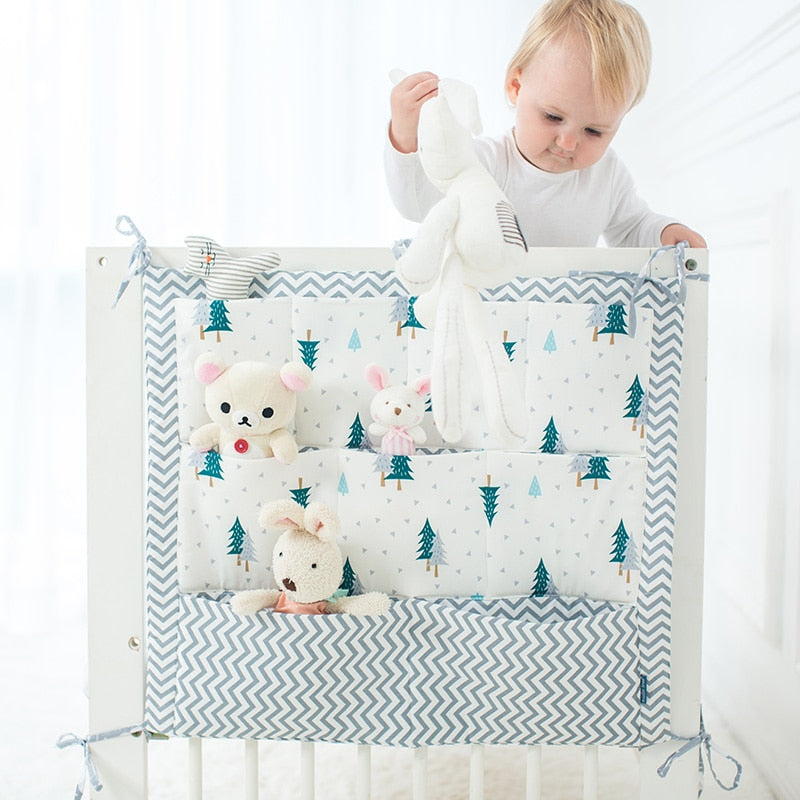 Baby Hanging Storage Bag Organizer For Baby Cots Crib Organizer Baby Bed Accessories Bed Pocket Newborn Crib Bedding Cradle Cot