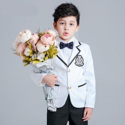 2018 new fashion baby boys kids spring autumn blazers suits boy suit for weddings children formal white dress wedding boy suits