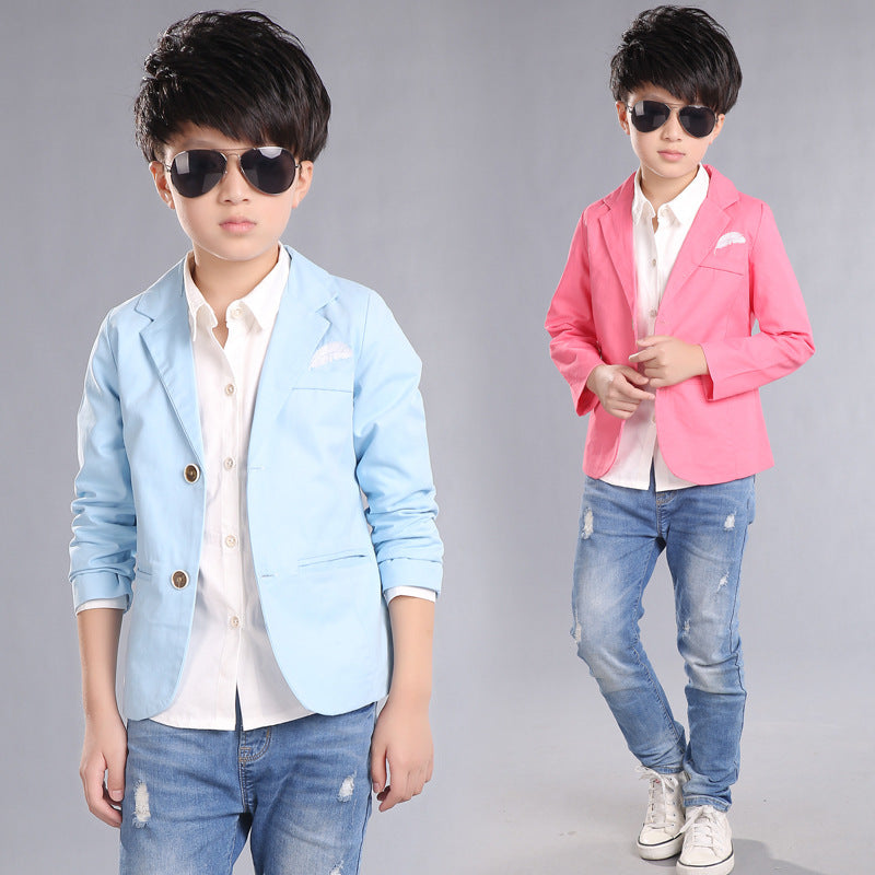 2018 New Kids Boys Blazers Cotton Jackets High Quality Chidren Style Party Wedding Formal Outwear Costume Enfant Garcon Mariage