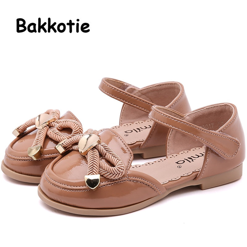 Bakkotie New Spring Fashion Children Bow Flats Baby Girls Princess Shoes Kids Pink Sweet Brand Party Shoe Toddler Mary Jane 2019