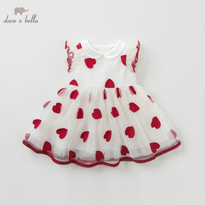 DB10134 DAVE BELLA summer baby girl princess clothes children birthday party wedding dress kids embroidered boutique dresses