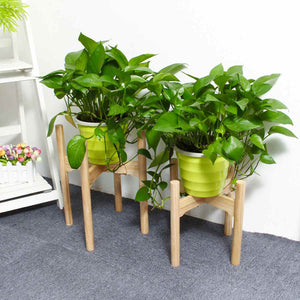 Furniture New Plant Shelves Flower Garden Wooden Plant Stand Flower Pot Garden Rack Stand Flower Display Wood Shelf Storage Rack