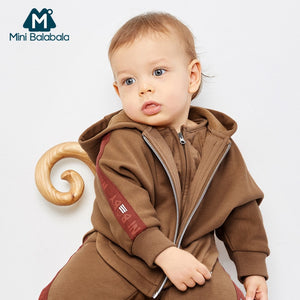 Baby Boys Autumn Winter Clothes Sets Infant Long Sleeve Thicken Hooded Sweatshirt+Pants 3PCS Cute Suit Newborn Clothing