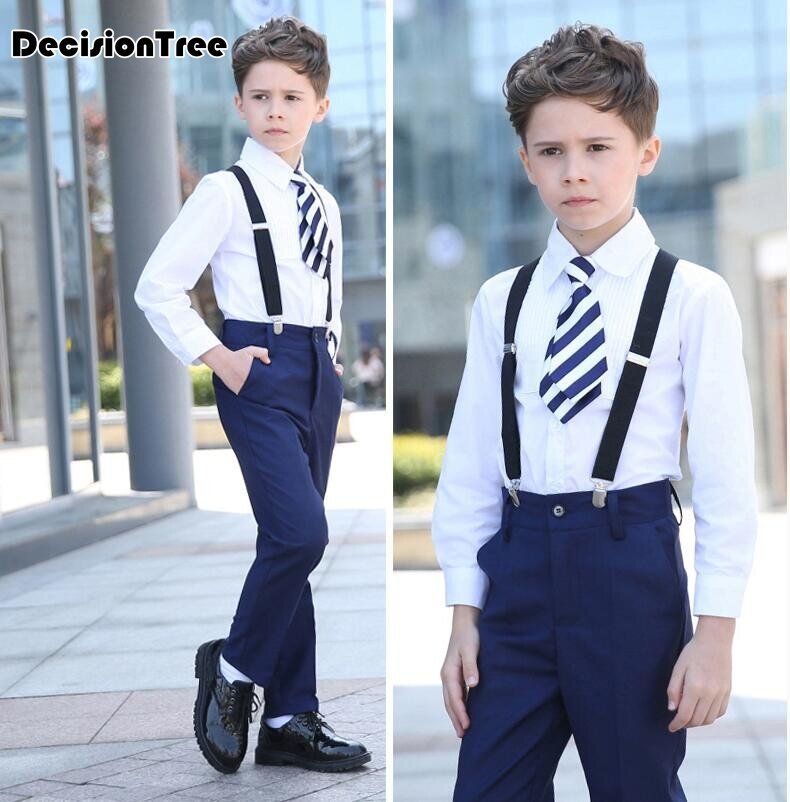 2019 new high quality boys blazer gentlemen's flowers lapel into casual suit vest + shirt + pants