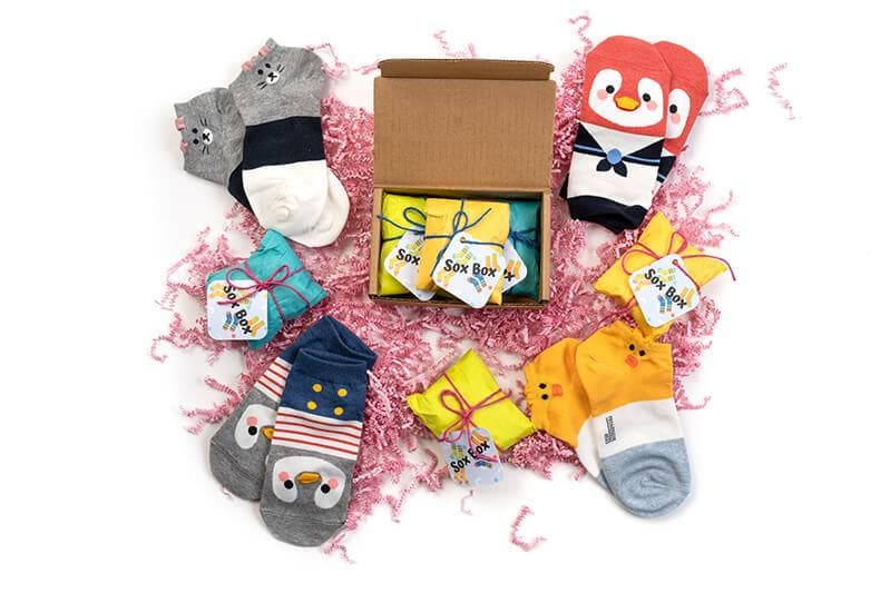 Sox Box: Cute Socks Every Month (12 Month Gift Box)