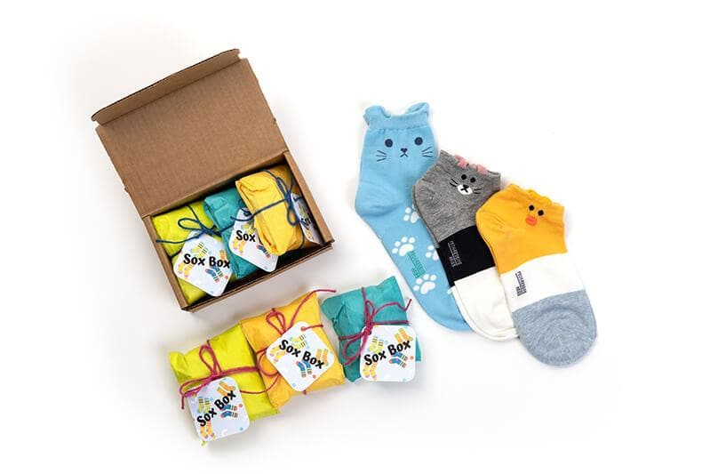 Sox Box: Cute Socks Every Month (3 Month Gift Box)