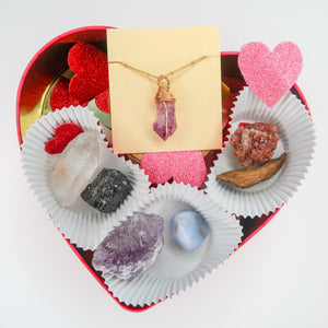 Valentine's Day Box With Necklace