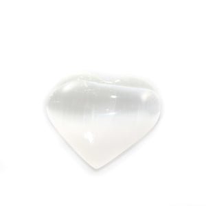 Selenite Heart Handheld Crystal