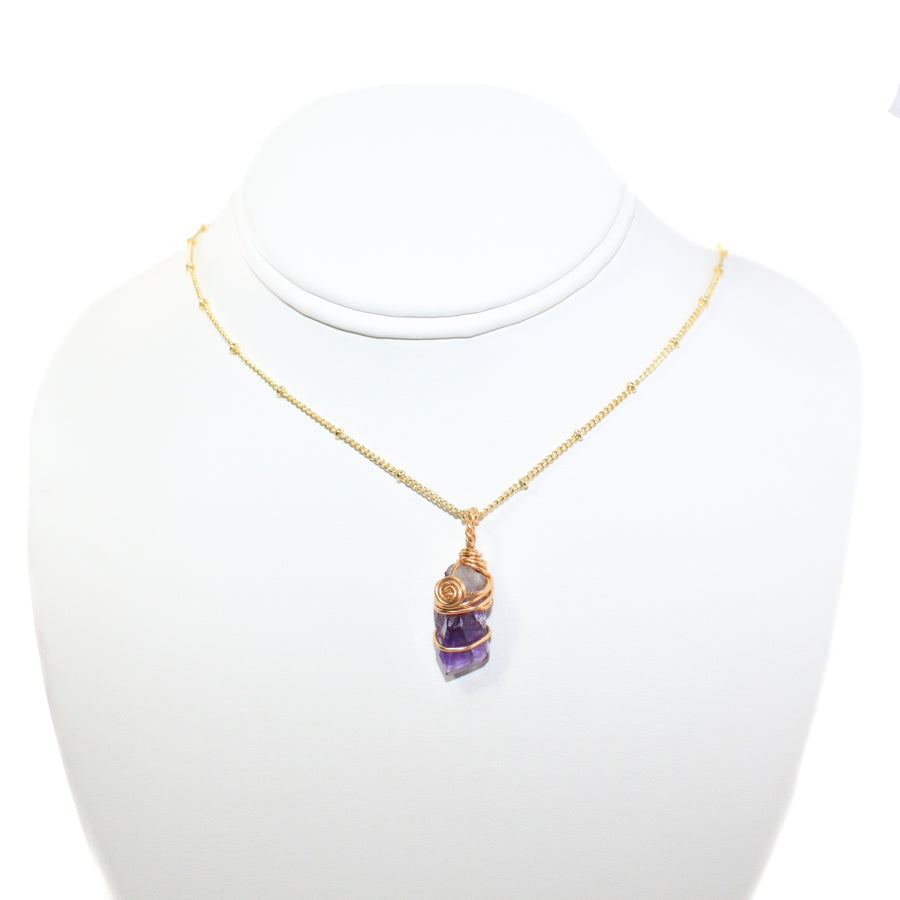 Small Amethyst Gold