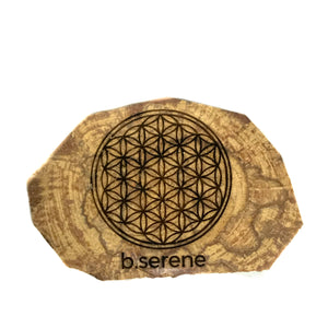 Laser Cut Flower of Life Palo Santo