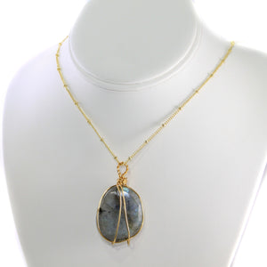 Labradorite Polished Gold