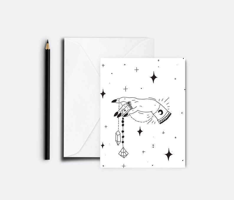 Crystal Pendant Blank Greeting Card