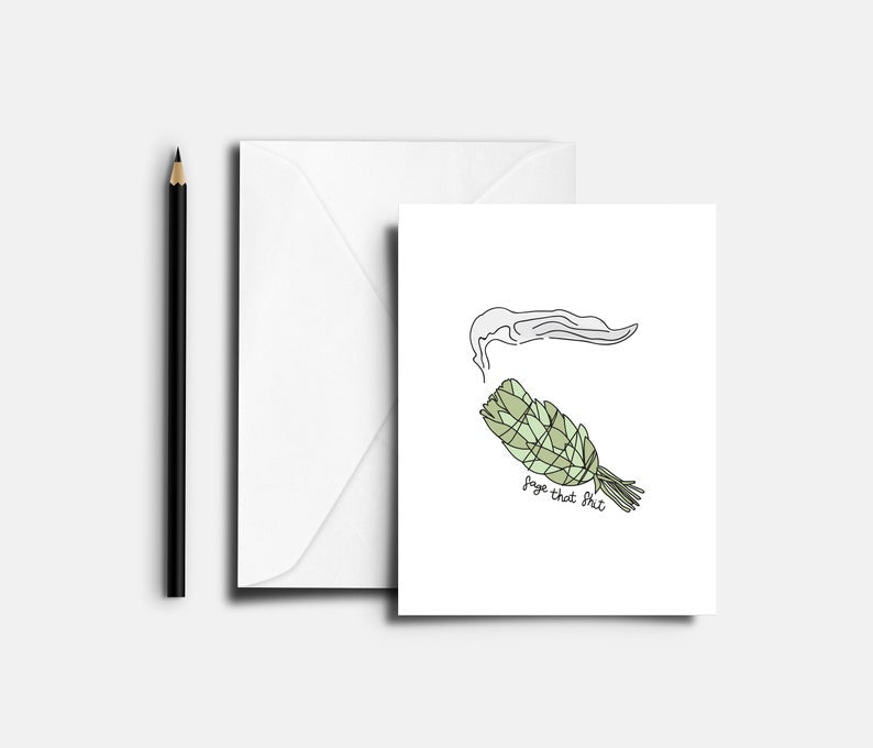 Sage That Blank Greeting Card