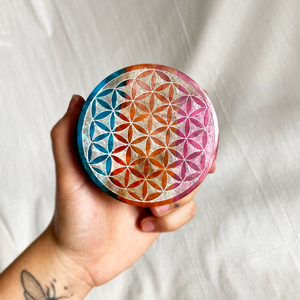 Rainbow Flower of Life Box