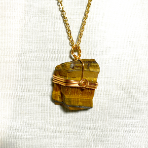 Raw Tiger's Eye Necklace
