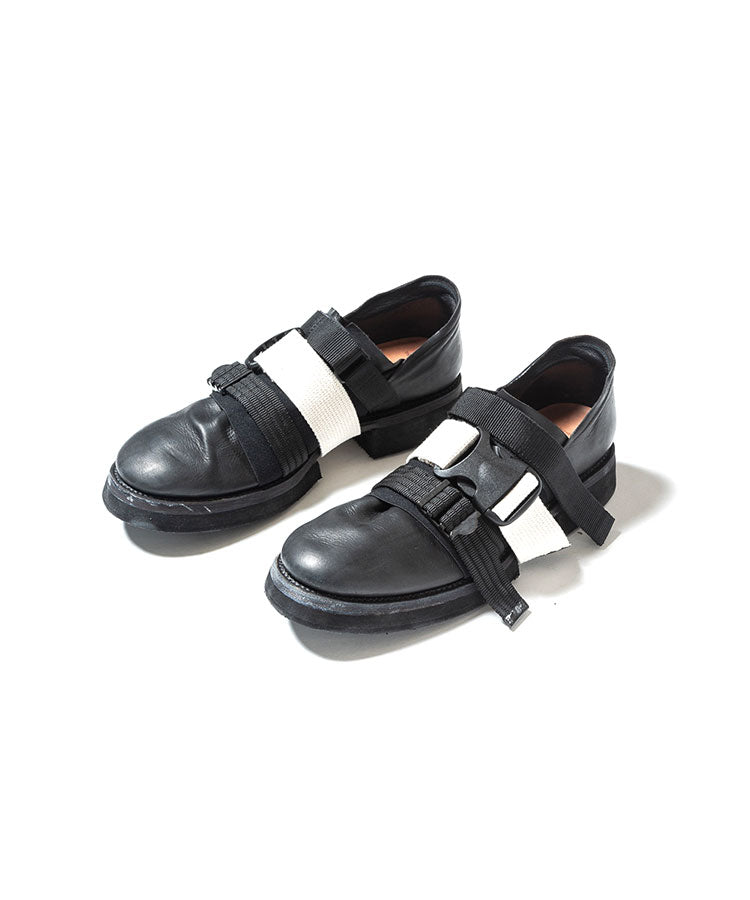 The Viridi-anne / GUIDI Calf Belt Shoes