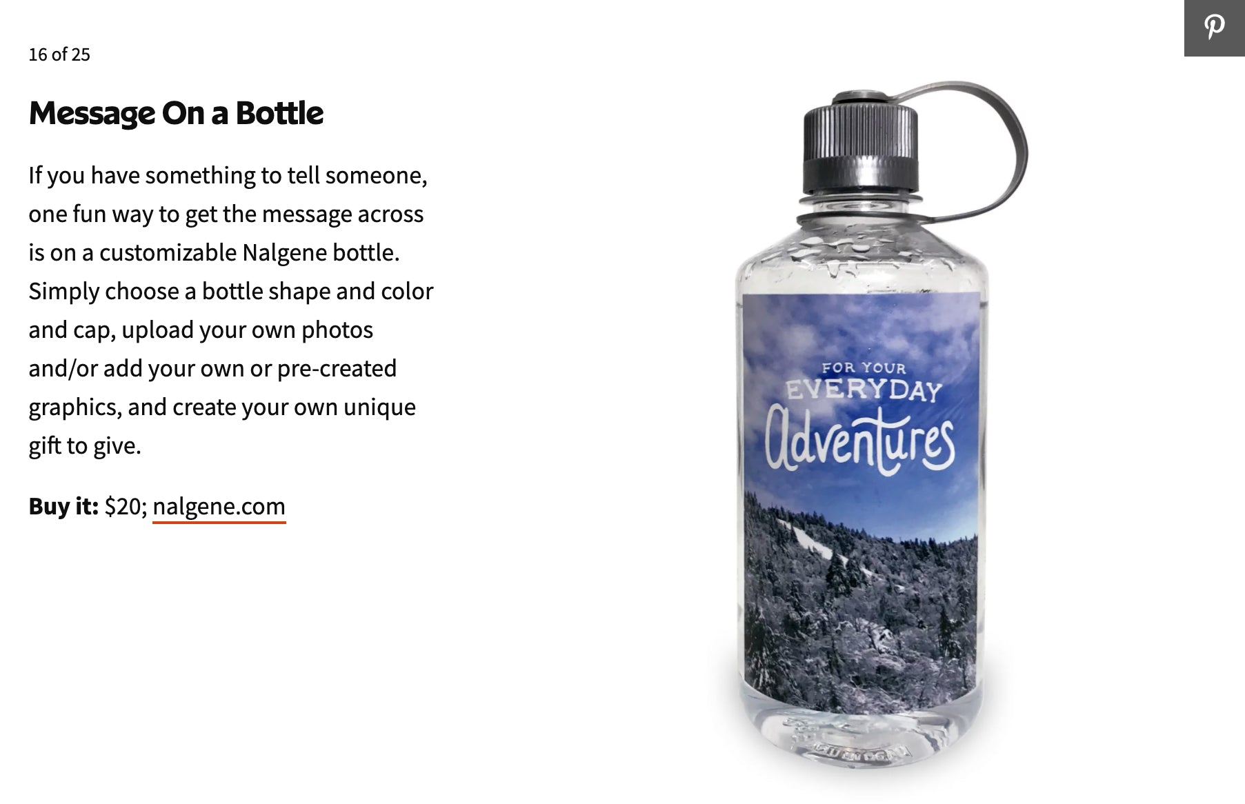 Message on a bottle