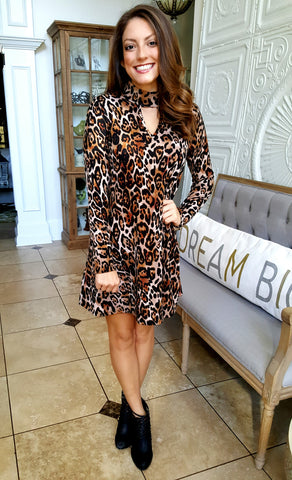 Into The Wild Dress In Animal Print