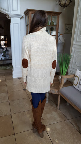 Patch Me Up Sweater In Cream