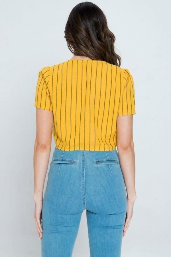 Sunshine Tie Up Crop Top