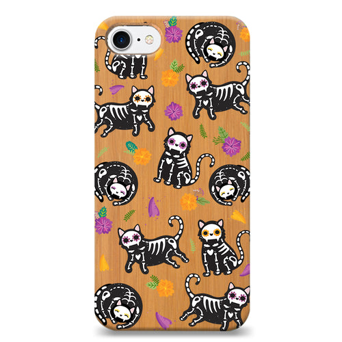 Funda Unique Cases de Madera para Celular - Cat-rina