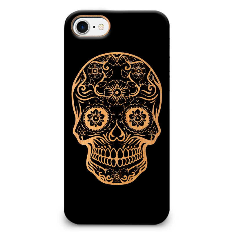 Funda Unique Cases de Madera para Celular - Dark Skull