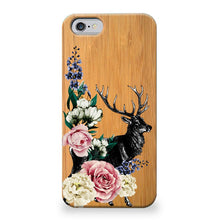 Funda Unique Cases de Madera para celular - Flower Deer - Unique Cases