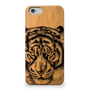 Funda Unique Cases de Madera para celular - Tiger