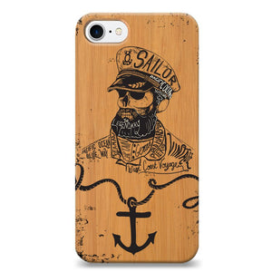 Funda Unique Cases de Madera para celular - Sailor