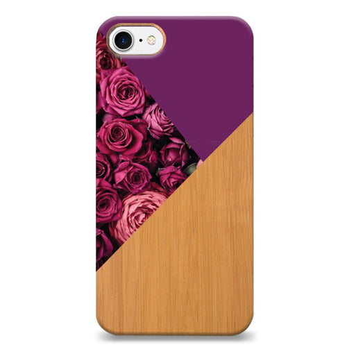 Funda Unique Cases de Madera para celular - Dark Rose