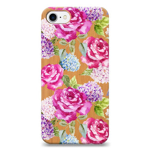 Funda Unique Cases de Madera para celular - Pink Roses
