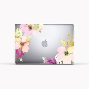 Case para MacBook - White Flowers - Unique Cases