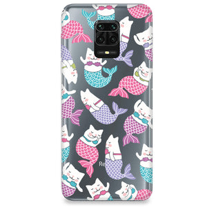 Funda para Xiaomi Redmi Note 9S - Mermaid Cat